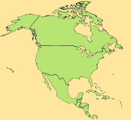 Gua de globalizacin  Mapa de Amrica del Norte y Centroamrica